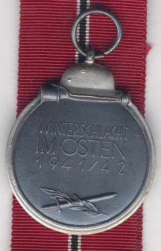 Recent score! 3 Ost Front medals, Winterschlacht im Osten