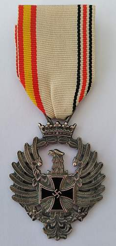 Spanish issue medal for the Blue Divsion