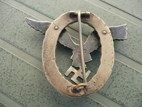 Gemeinsames Flugzeugfuhrer-Beobachter Abzeichen