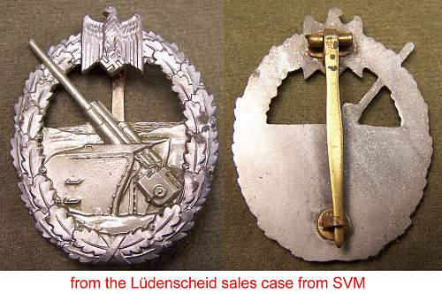 Kriegsabzeichen der Marine Artillerie