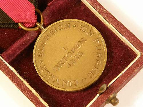 1st Oktober Sudetenland Medal for opinions please