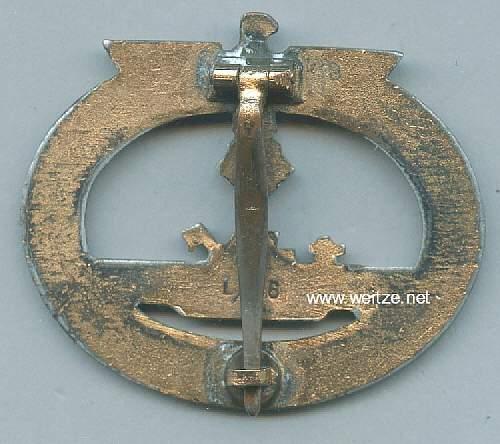 U-boot Kriegsabzeichen, L/56
