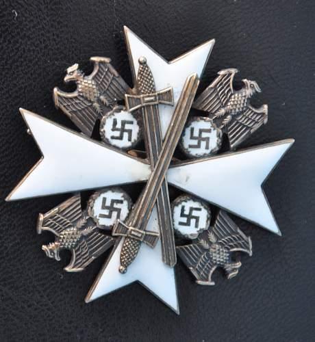 Determination of authenticity Verdienstorden vom Deutschen Adler