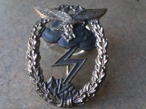 Erdkampfabzeichen der Luftwaffe  by Junker?