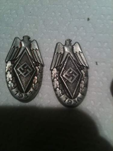 German Nazi Medals, Patches, and Pins. Rare? Need help.