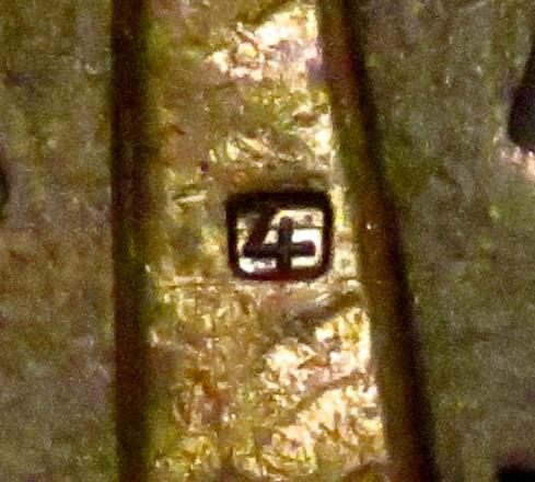 Spanienkreuz in Bronze mit Schwerter double maker mark