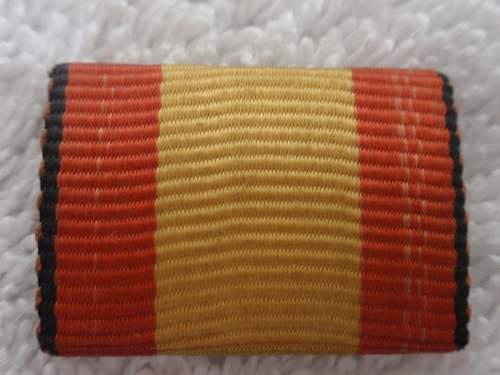 Click image for larger version.  Name:Spanish Ribbon Bar Condor Legion_1.jpg Views:119 Size:121.0 KB ID:869878