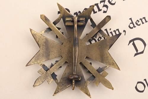 Spanienkreuz in Bronze