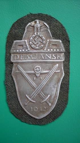 Demjansk shield - real or fake?