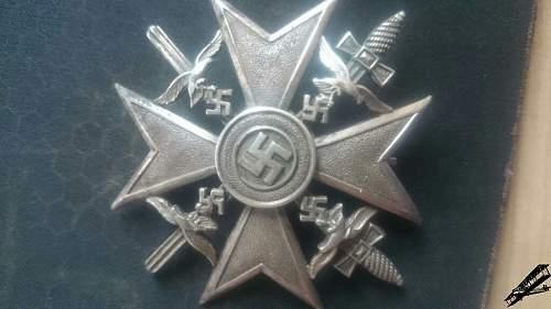 Spanienkreuz in Silber mit Schwertern CEJ 900 - ask for help