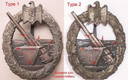 Kriegsabzeichen fur die Marine-Artillerie - Schwerin Berlin