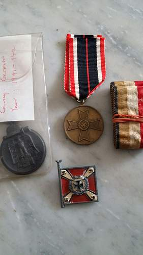 What are these third reich medals and are they original too?