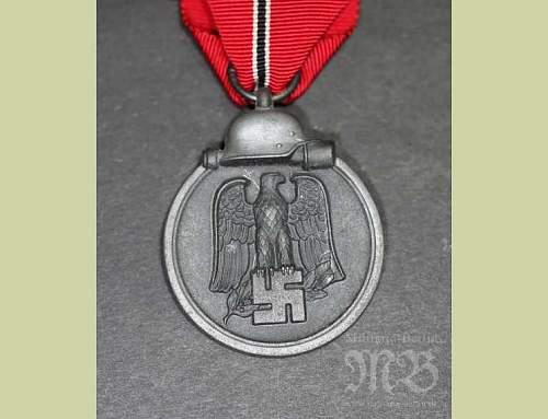 "Medaille ""Winterschlacht im Osten 1941/42"" (Ostmedaille) - Maker 110"