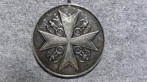 Silberne Verdienstmedaille der Deutschen Adlerodern?