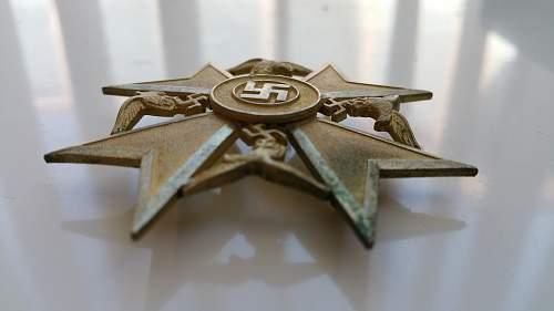 Spanienkreuz in Bronze?