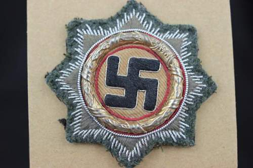 Deutsches Kreuz im Gold Cloth version