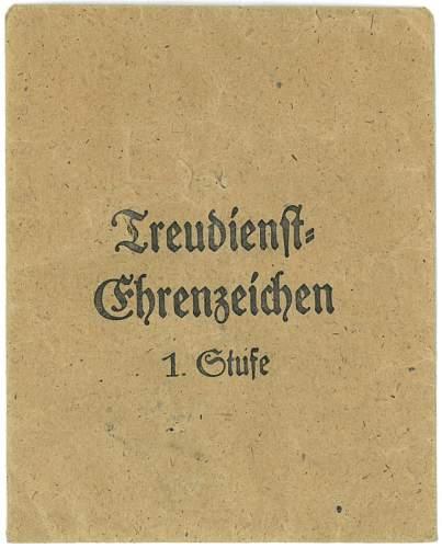 """Treudienst Ehrenzeichen, 40 Jahre - """"1"""" (Deschler & Sohn)"""