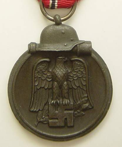 Click image for larger version.  Name:Eastern Front medal close up.jpg Views:236 Size:221.0 KB ID:9014