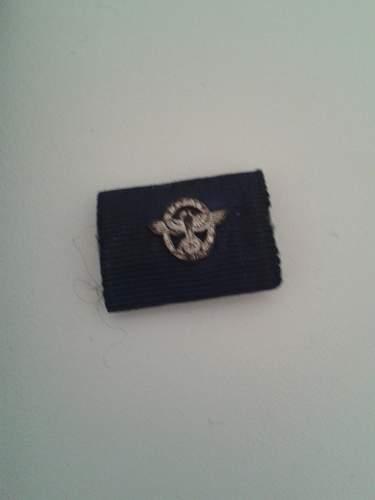 Polizei-Dienstauszeichnung 18 Jahr