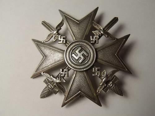 Spanienkreuz in Silber 900