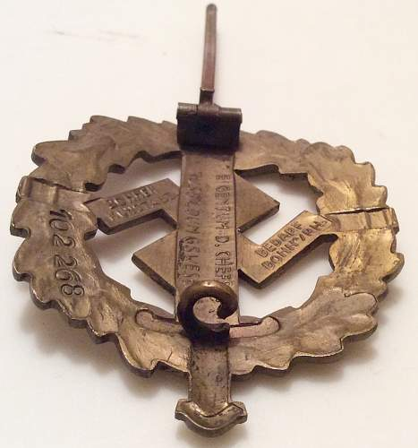 Bronzes SA-Sportabzeichen