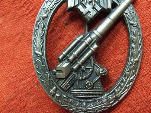 Heeres Flakabzeichen (ARMY ANTI-AIRCRAFT)