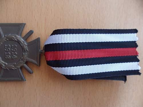1914/1918 Ehrenkreuz ribbon