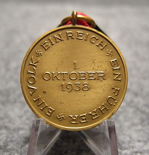 1st Oktober Sudetenland Medal with Prague Castle bar