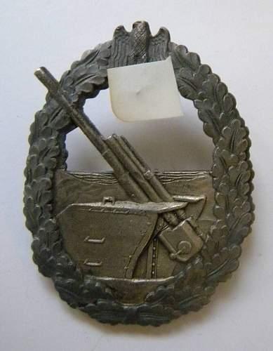"""marine artillerie kriegsabzeichen """"Baqueville""""?"""