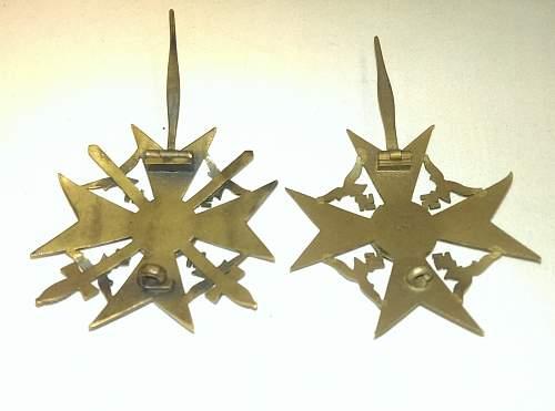 L/11 Spanienkreuz in Bronze ohne Schwerter