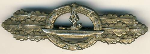2 submarine badge