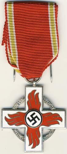 Reichsfeuerwehr-ehrenzeichen 1.Stufe