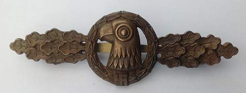 Click image for larger version.  Name:Frontflugspange für Aufklärer in Bronze.jpg Views:159 Size:149.7 KB ID:932907