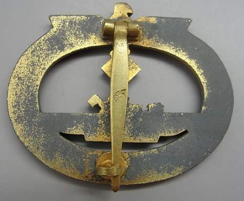 U-boot Kriegsabzeichen maker 65