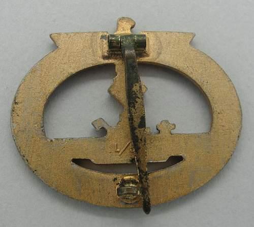 U-boot Kriegsabzeichen maker L/56