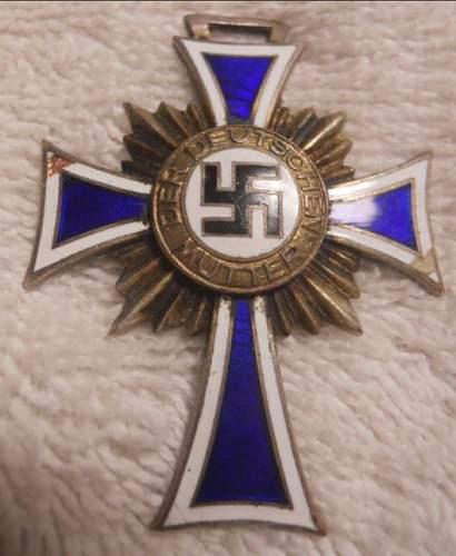 Click image for larger version.  Name:Mutterkreuz  16 Dezember 1938 Silver_1.JPG Views:90 Size:54.0 KB ID:935599