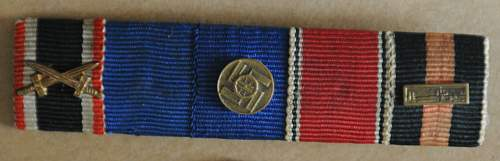 Click image for larger version.  Name:1 Three-Place Ribbon Bar with 2nd Class Iron Cross and two unknowns front.jpg Views:30 Size:182.3 KB ID:940946