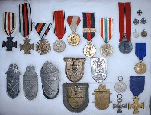 Click image for larger version.  Name:Misc medals-shields.JPG Views:10 Size:65.2 KB ID:942935