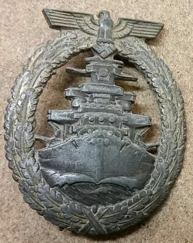Das Flottenkriegsabzeichen  Genuine