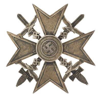 Spanish cross is silver w/swords