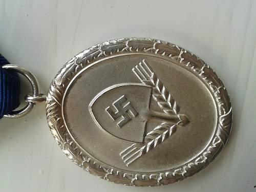 Reichsarbeitsdienst 3 klasse
