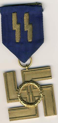 help for this SS long service medal for 25 years