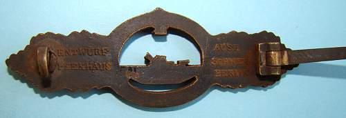 original U-boot Frontspange in Bronze?