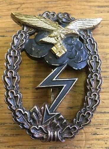 Erdkampfabzeichen der Luftwaffe fake or not