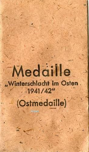 Rare Winterschlacht im Osten #100 W&L/L 55 packet