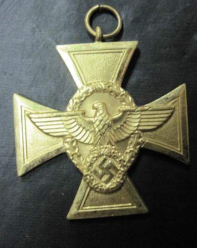 Gold Police Service Medal and NSDAP Long Service Medal: Authentic pieces? Where to find ribbons?