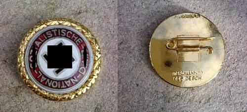 NSDAP Golden party & ss rune award original or not?