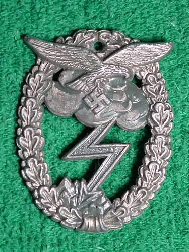 Erdkampfabzeichen der Luftwaffe - unmarked