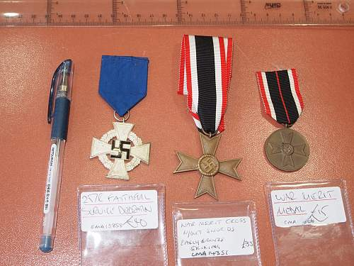 Click image for larger version.  Name:German WW2 Medals Front.jpg Views:12 Size:228.3 KB ID:970468
