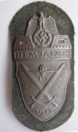 Demjansk Shield missing log variant